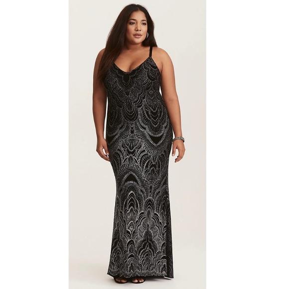 bdf50b908f698 torrid Dresses | Glitter Maxi Dress Great For Promformal | Poshmark